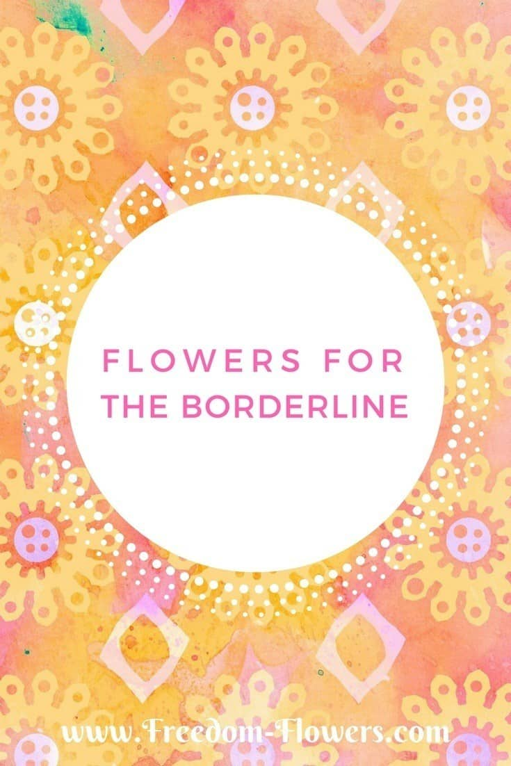 Flower essences for borderline personality disorder